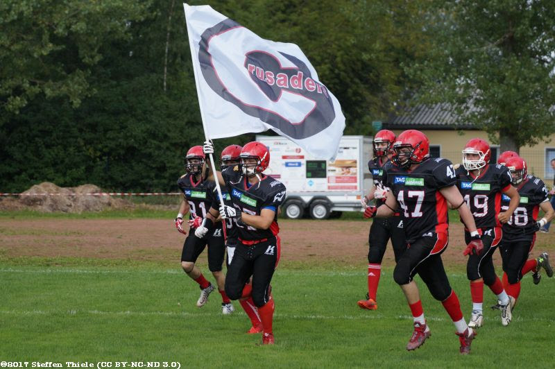 Gameday 27.08.2017 | Crusaders vs. Halle Falken